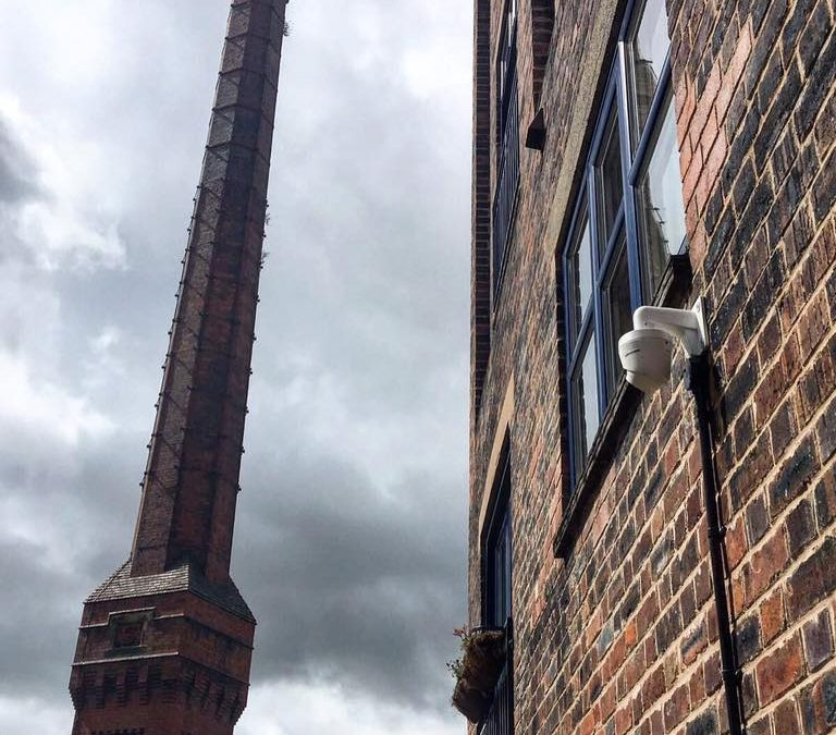 CCTV at central Wrexham Apartments